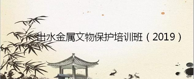 出水金属文物保护培训班(2019)